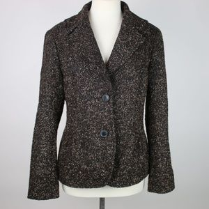 LAFAYETTE 148 New York Brown Virgin Wool Blazer 10